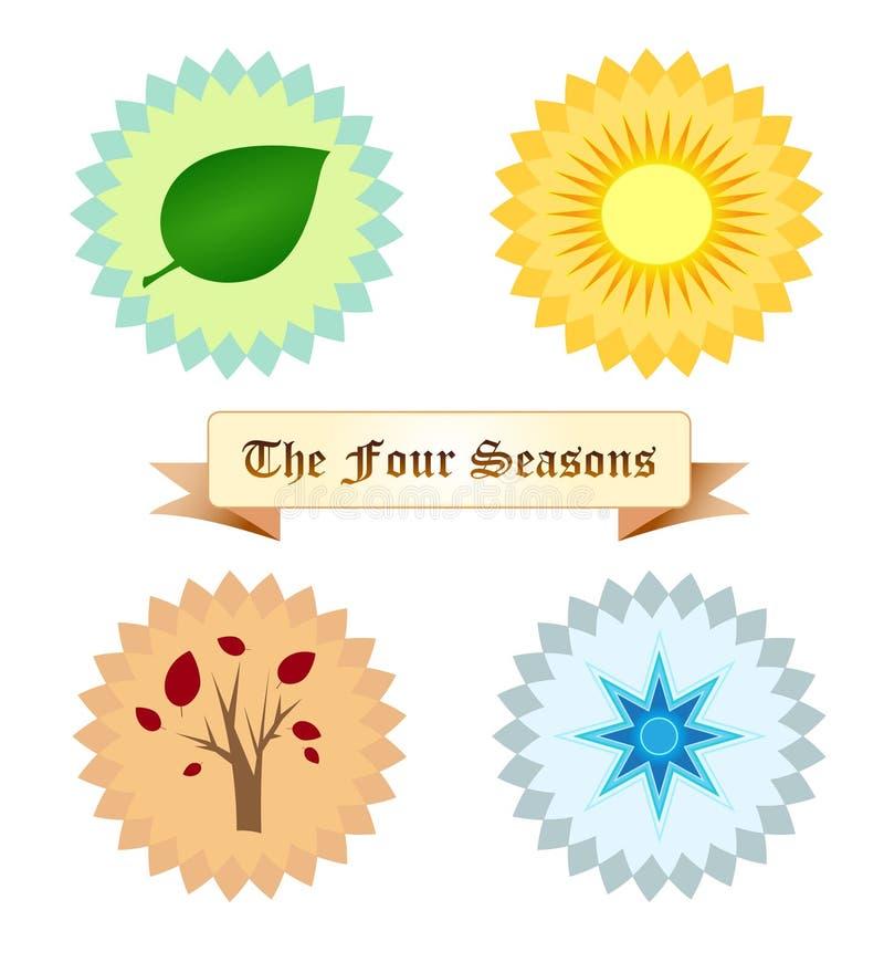 Cztery sezonu ilustracja wektor