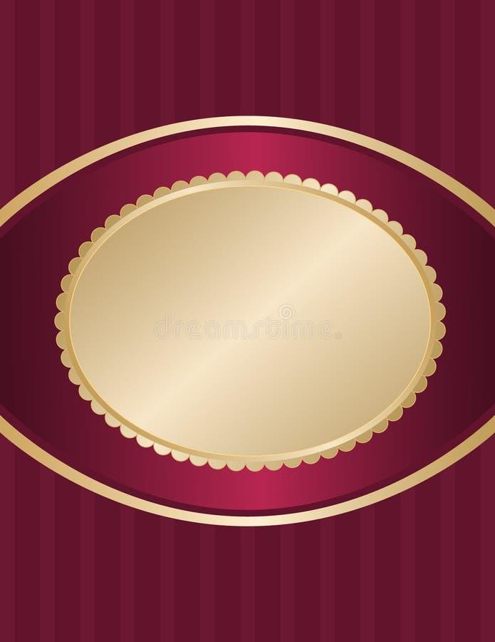 etykietka złocisty owal ilustracja wektor