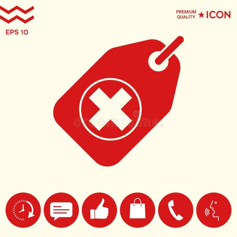 Etykietka z medycznym krzyżem ilustracji
