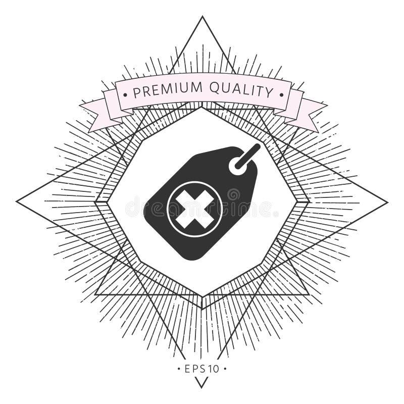 Etykietka z medycznym krzyżem royalty ilustracja