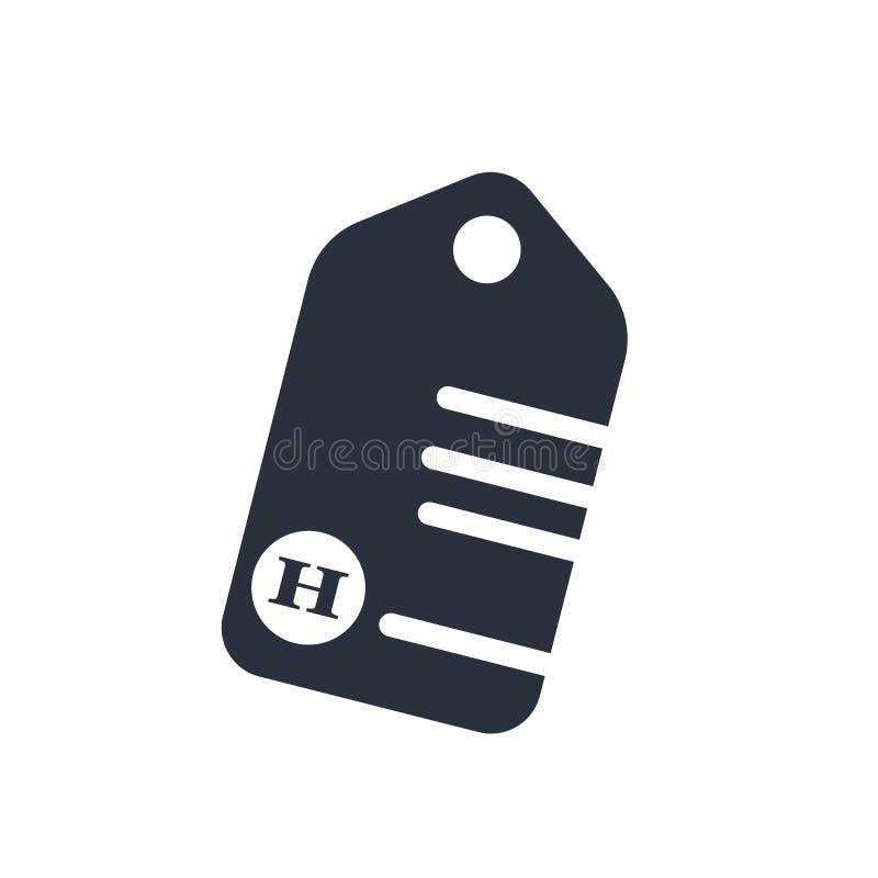 Etykietka z znakiem odizolowywającymi na białym tle przecinającym ikona wektoru symbolem i, etykietka z przecinającym logo pojęci ilustracji