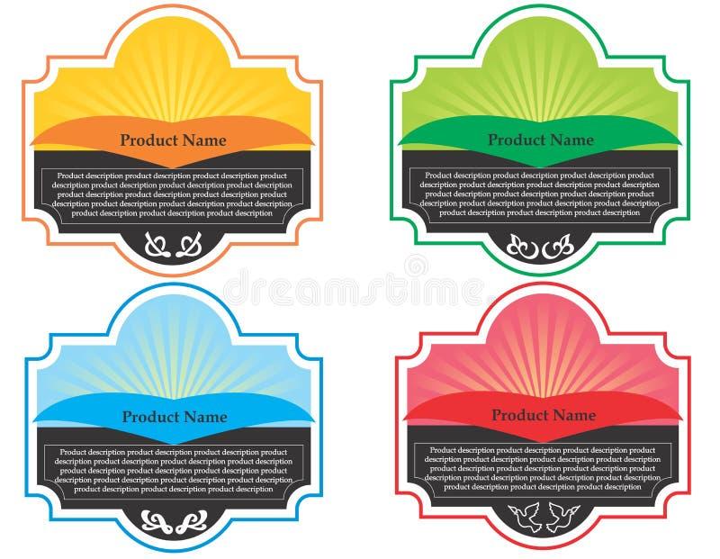 Etykietki dla butelki ilustracja wektor