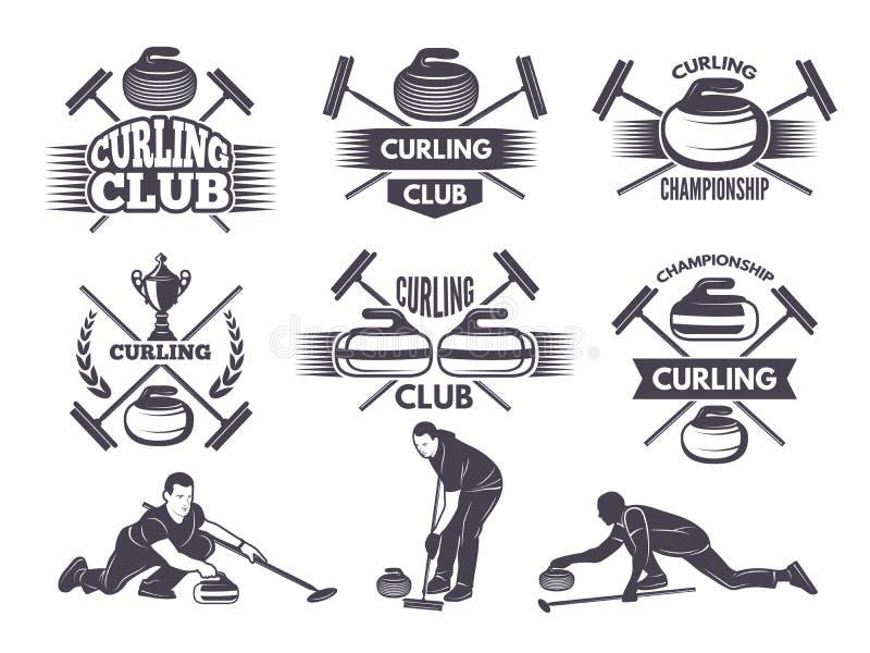 Etykietki dla fryzować sport drużyny ilustracji