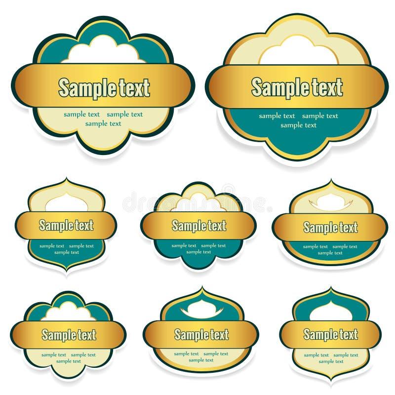 Etykietki dla jedzenia z miejscem dla teksta ilustracji