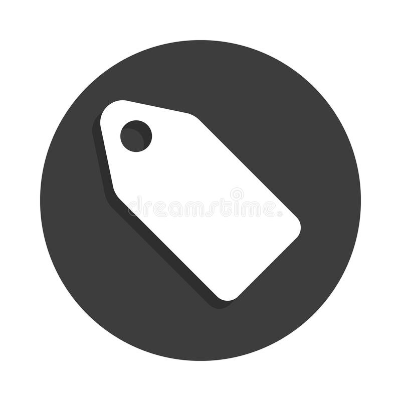 etykietki ikona w odznaka stylu z cieniem ilustracji