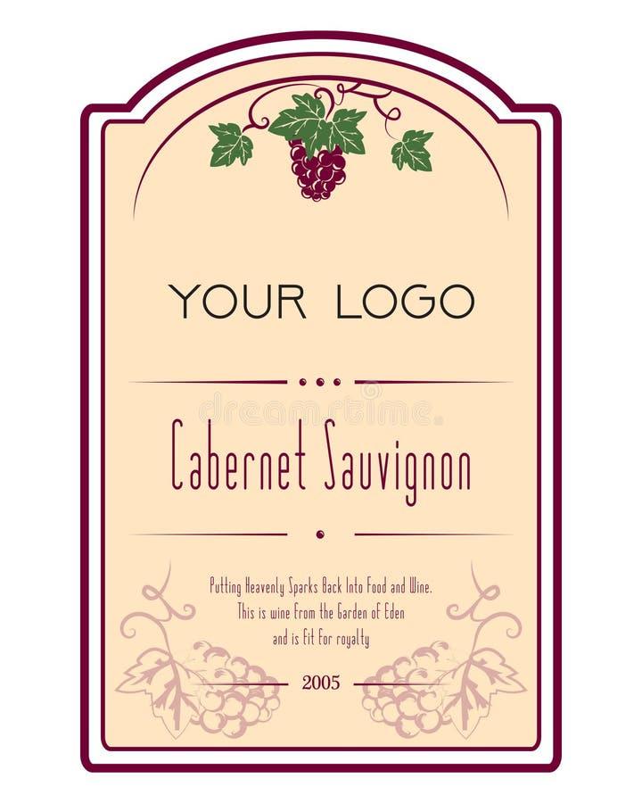 etykietki ilustracja wiruje winogrona wino owocowe ilustracji