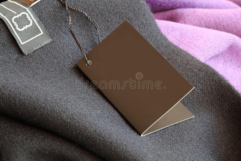 etykietki metki odzież obrazy stock