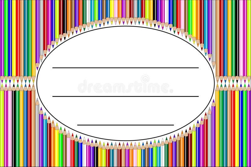 etykietki ołówka wektor ilustracji