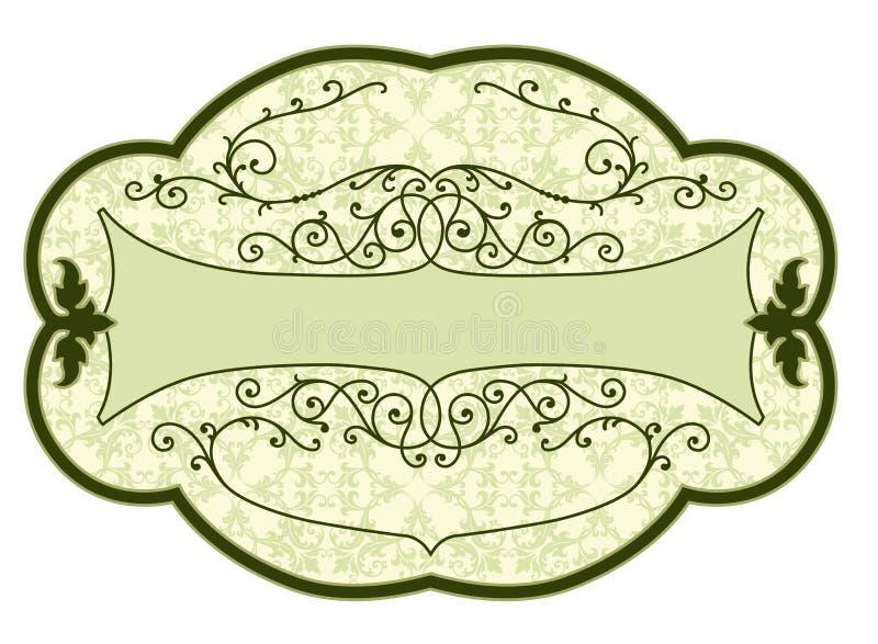 etykietki produktu rocznik ilustracja wektor