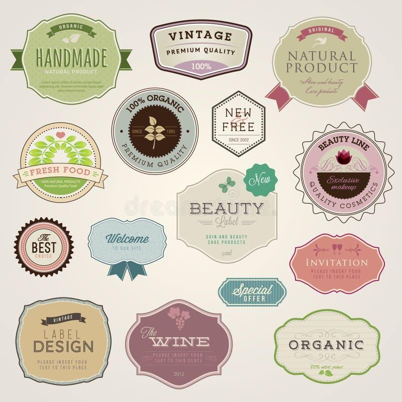 etykietki ustawiają majcherów ilustracji