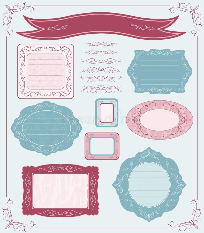etykietki ustawiający wektor ilustracji
