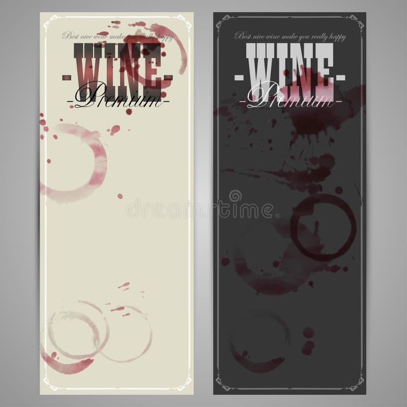 etykietki ustawiający wino ilustracja wektor