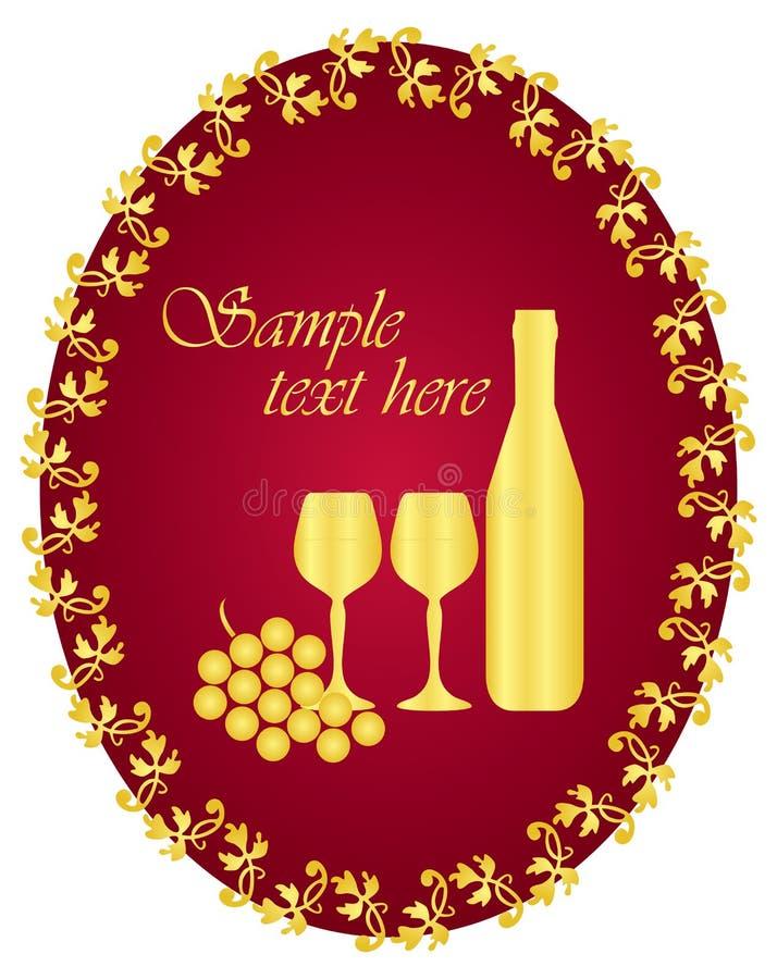 etykietki wino ilustracji