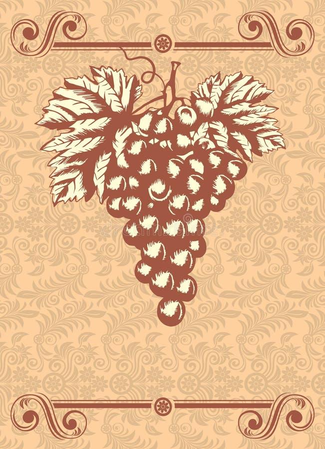 etykietki wino royalty ilustracja