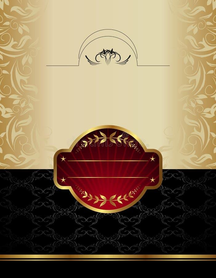 etykietki złocisty wino royalty ilustracja
