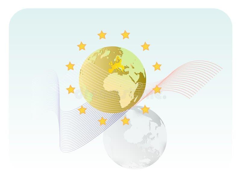 Download EU stock vector. Image of earth, globe, circle, vignette - 9990899