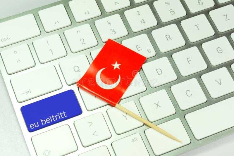 EU-accession av Turkiet fotografering för bildbyråer