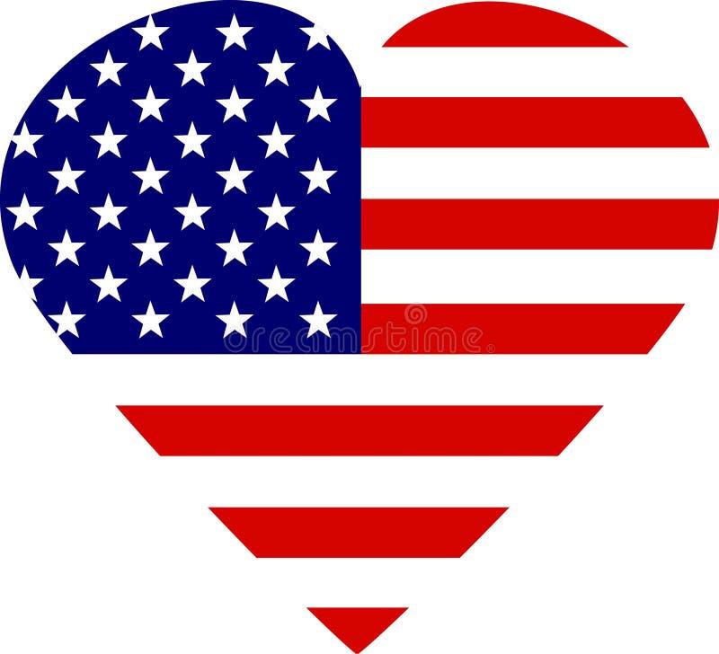 Eu amo América ilustração stock