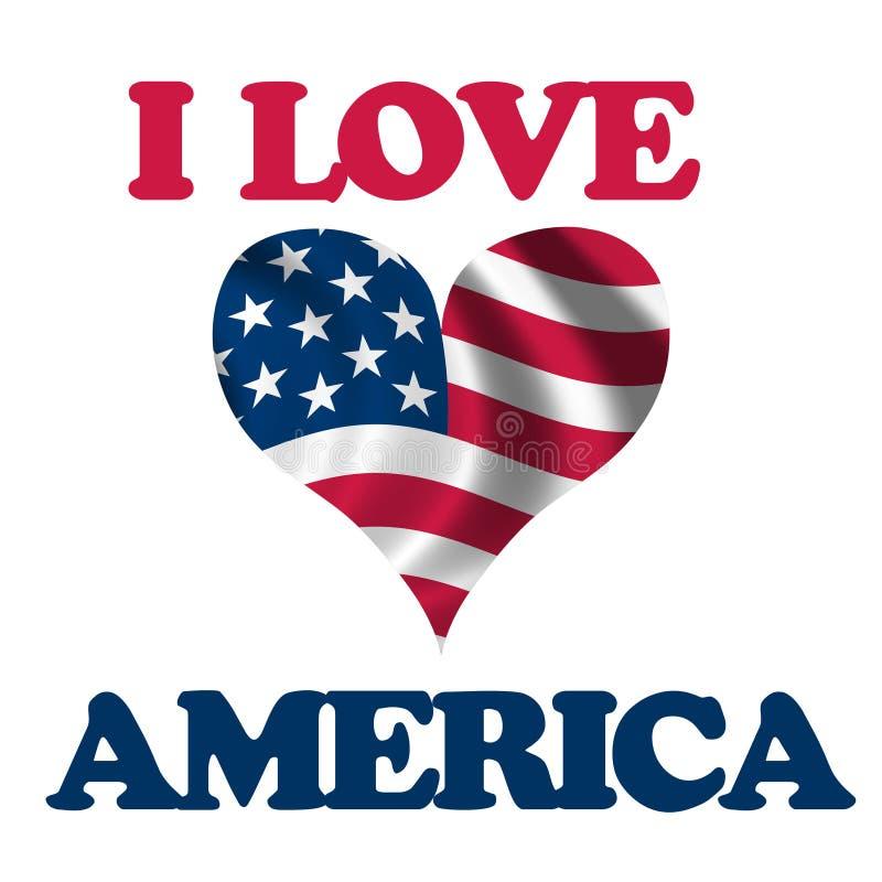 Eu amo América ilustração royalty free