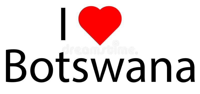 Eu amo Botswana ilustração stock