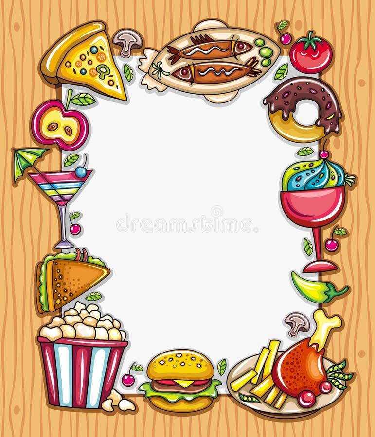 Eu amo comer ilustração do vetor