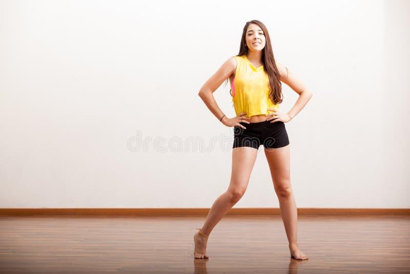 Eu amo dançar o jazz foto de stock