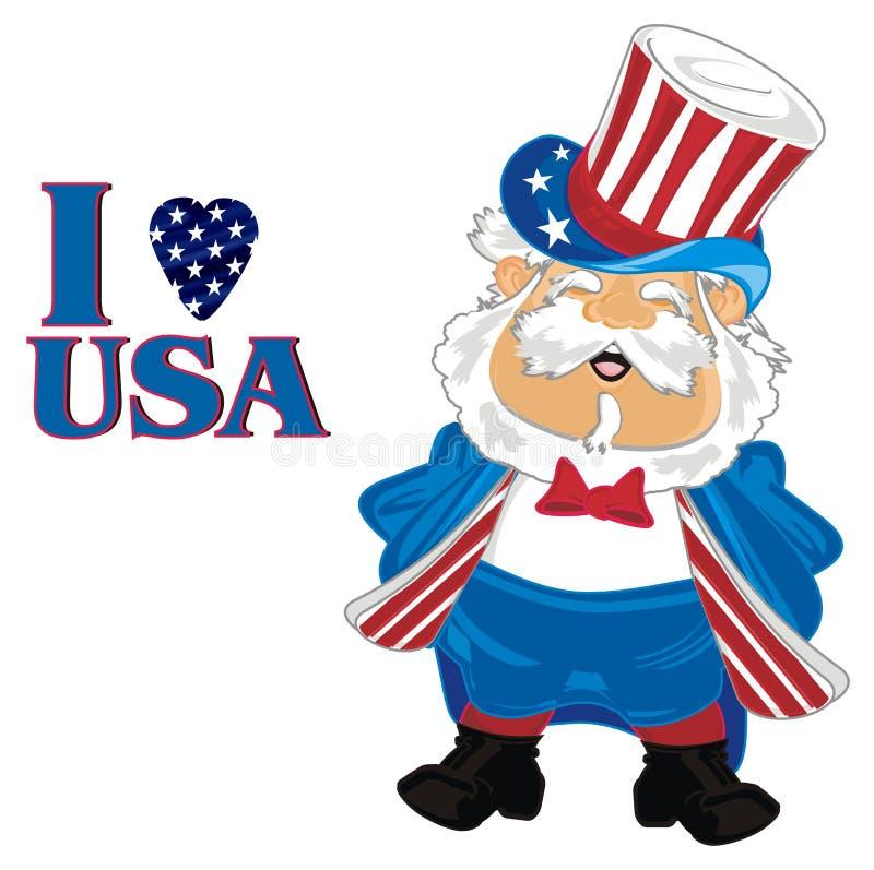 Eu amo EUA ilustração stock