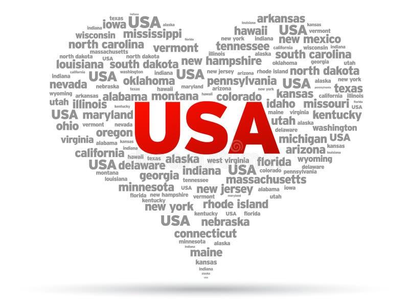 Eu amo EUA ilustração do vetor