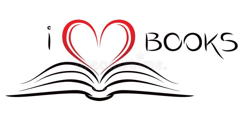 Eu amo livros ilustração royalty free