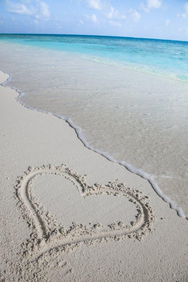 Eu amo Maldivas imagem de stock royalty free