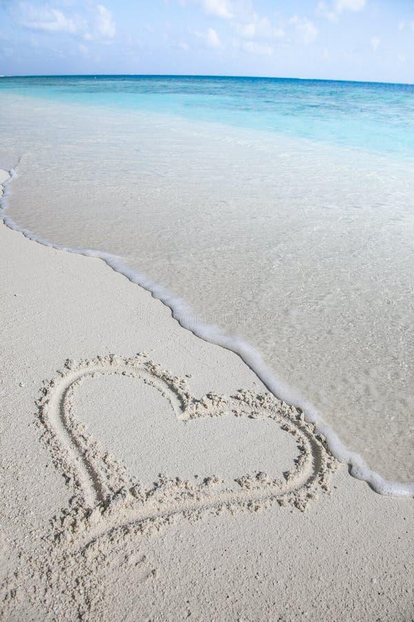Eu amo Maldivas imagem de stock