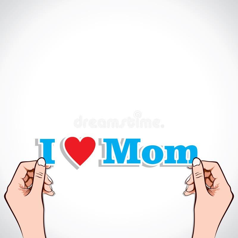 Eu amo a mamã ilustração stock