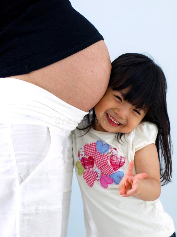 Eu amo a mamã e o bebê imagens de stock