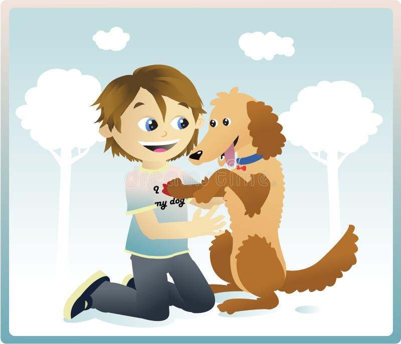 Eu amo meu cão ilustração royalty free