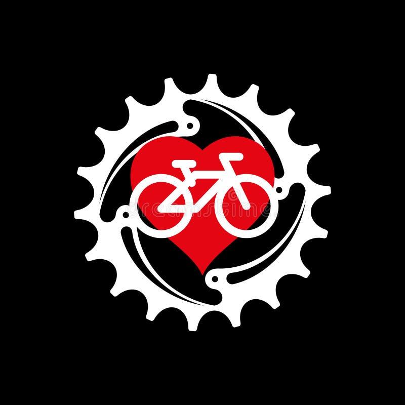 Eu amo meu projeto do cartaz, da cópia ou do t-shirt da bicicleta Ilustração do vetor ilustração stock