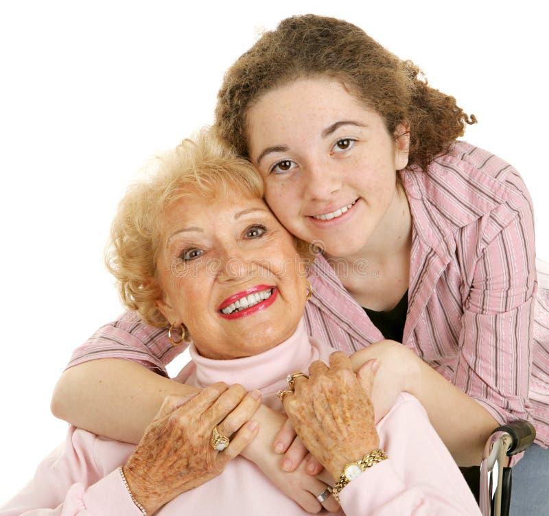 Eu amo minha avó foto de stock