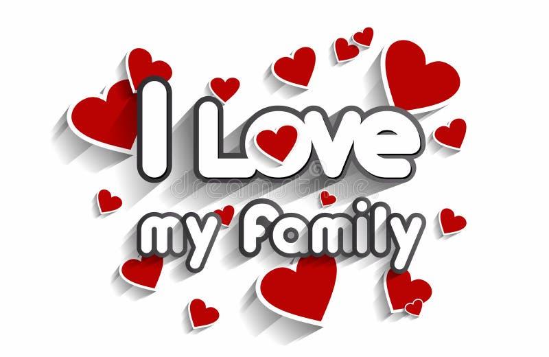 Eu amo minha família ilustração royalty free