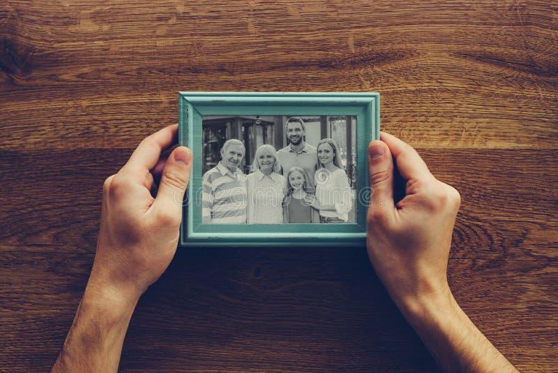 Eu amo minha família! fotografia de stock