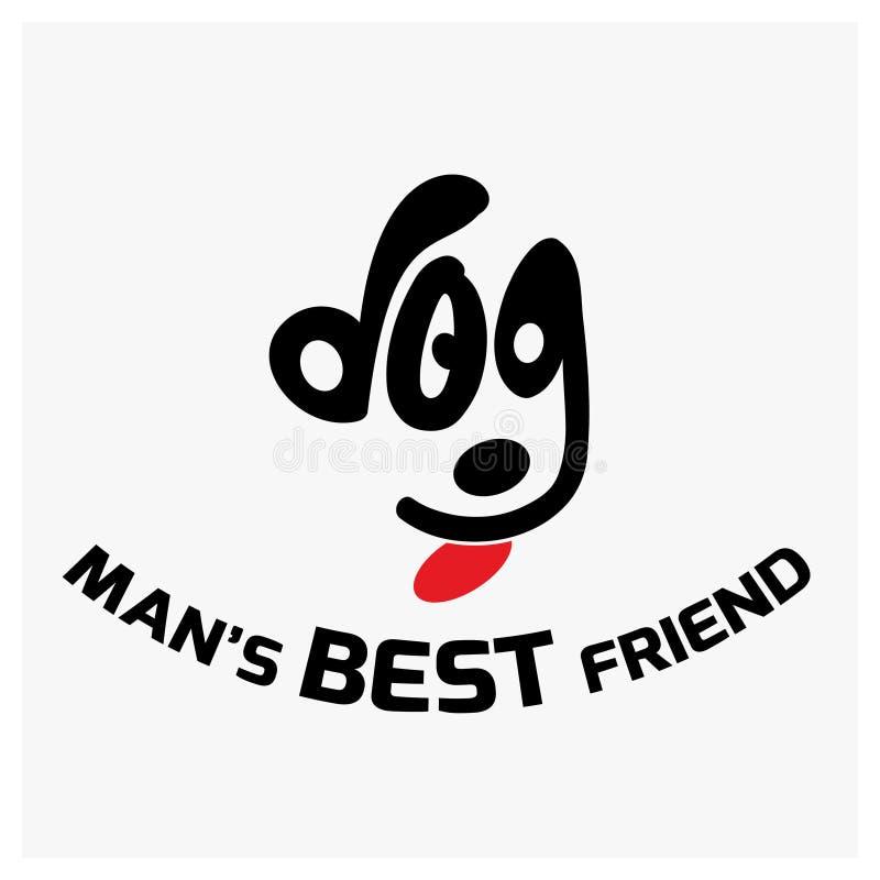 Eu amo minha tipografia do cão com vetor criativo do projeto ilustração royalty free