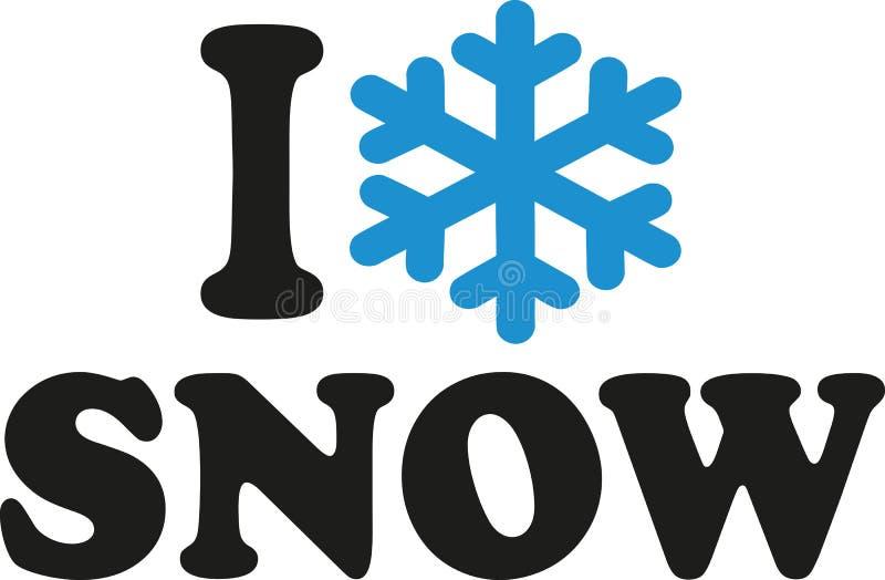 Eu amo a neve ilustração stock