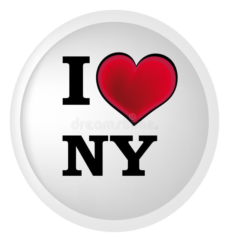 Eu amo New York ilustração royalty free