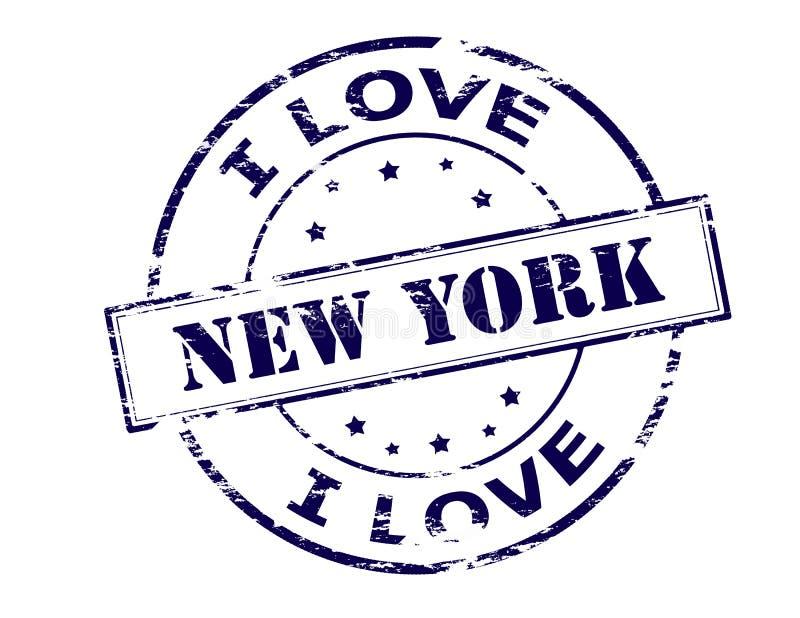 Eu amo New York ilustração do vetor
