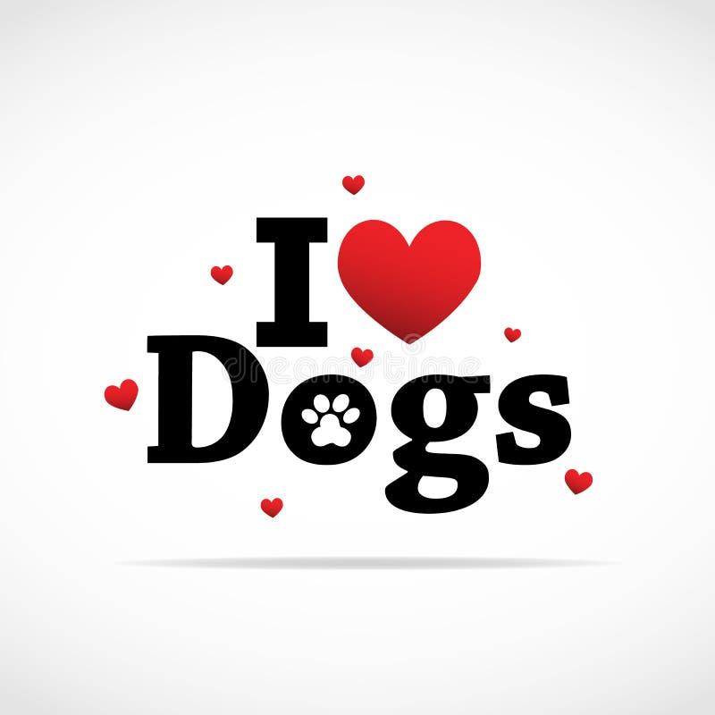 Eu amo o ícone dos cães. ilustração royalty free