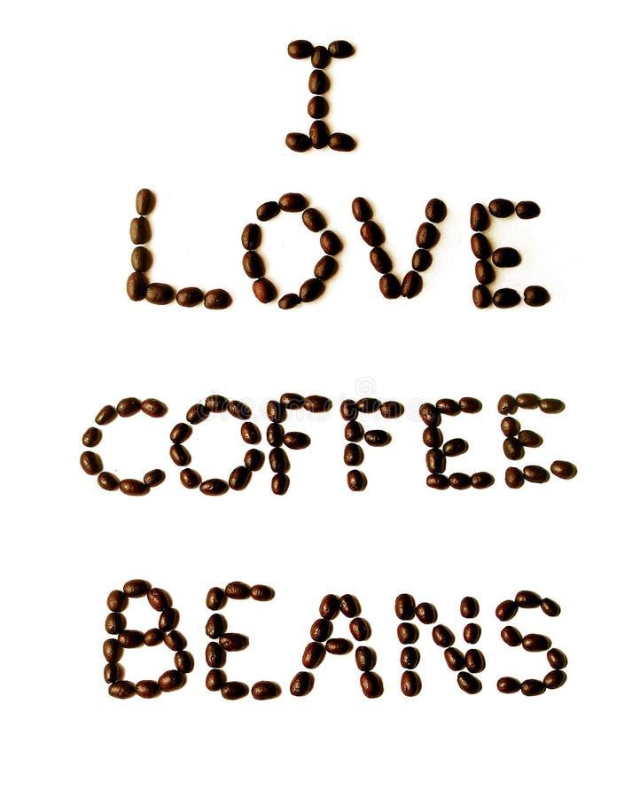 Eu amo o café fotos de stock royalty free
