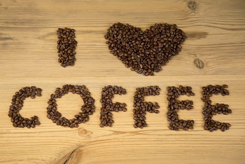 Eu amo o café! imagens de stock royalty free