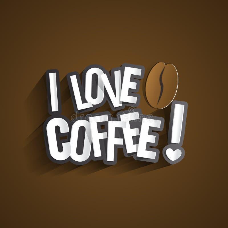 Eu amo o café ilustração royalty free