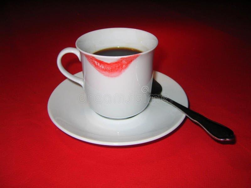 Download Eu amo o café foto de stock. Imagem de prazer, beber, tablecloth - 532530