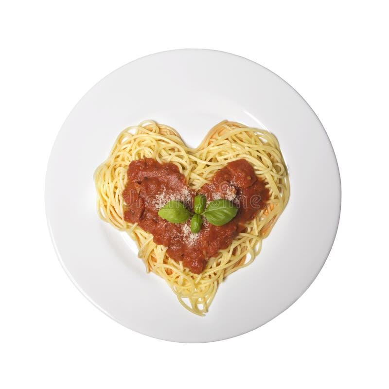 Eu amo o espaguete imagens de stock royalty free