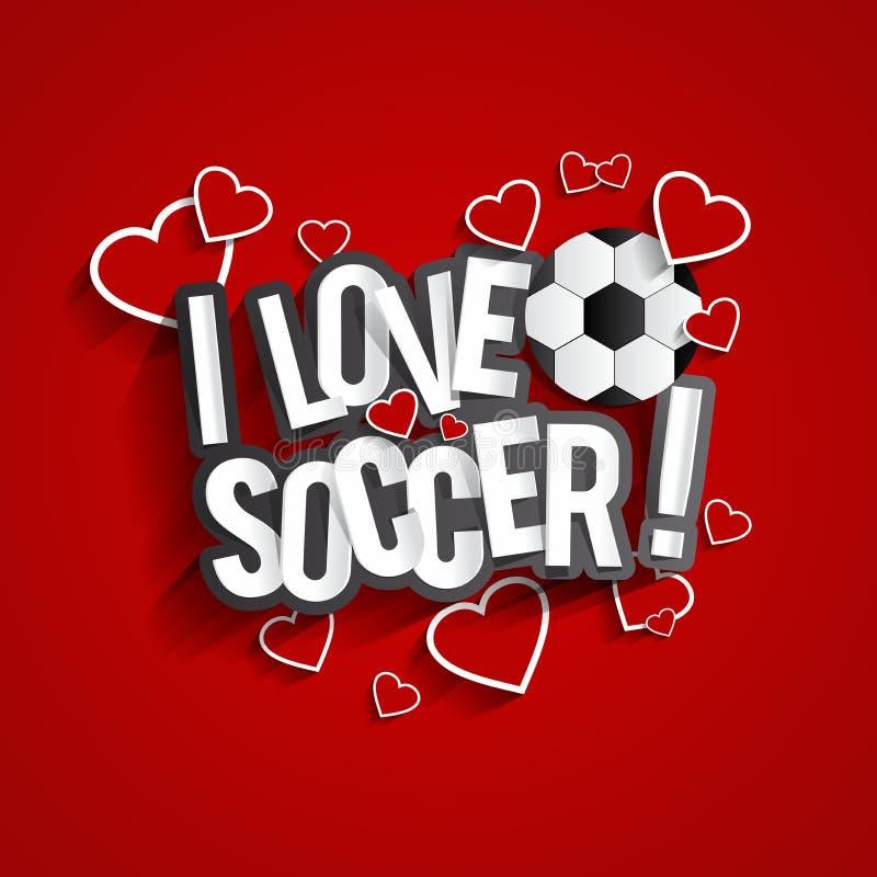 Eu amo o futebol ilustração stock