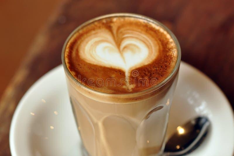 Eu amo o latte fotografia de stock royalty free